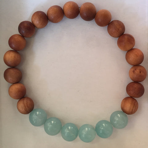 Sandalwood Bracelet Amazonite