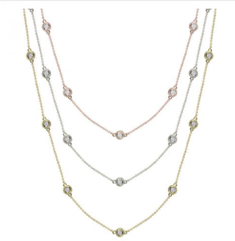 Diamond by the Yard Necklace 1.0ctw