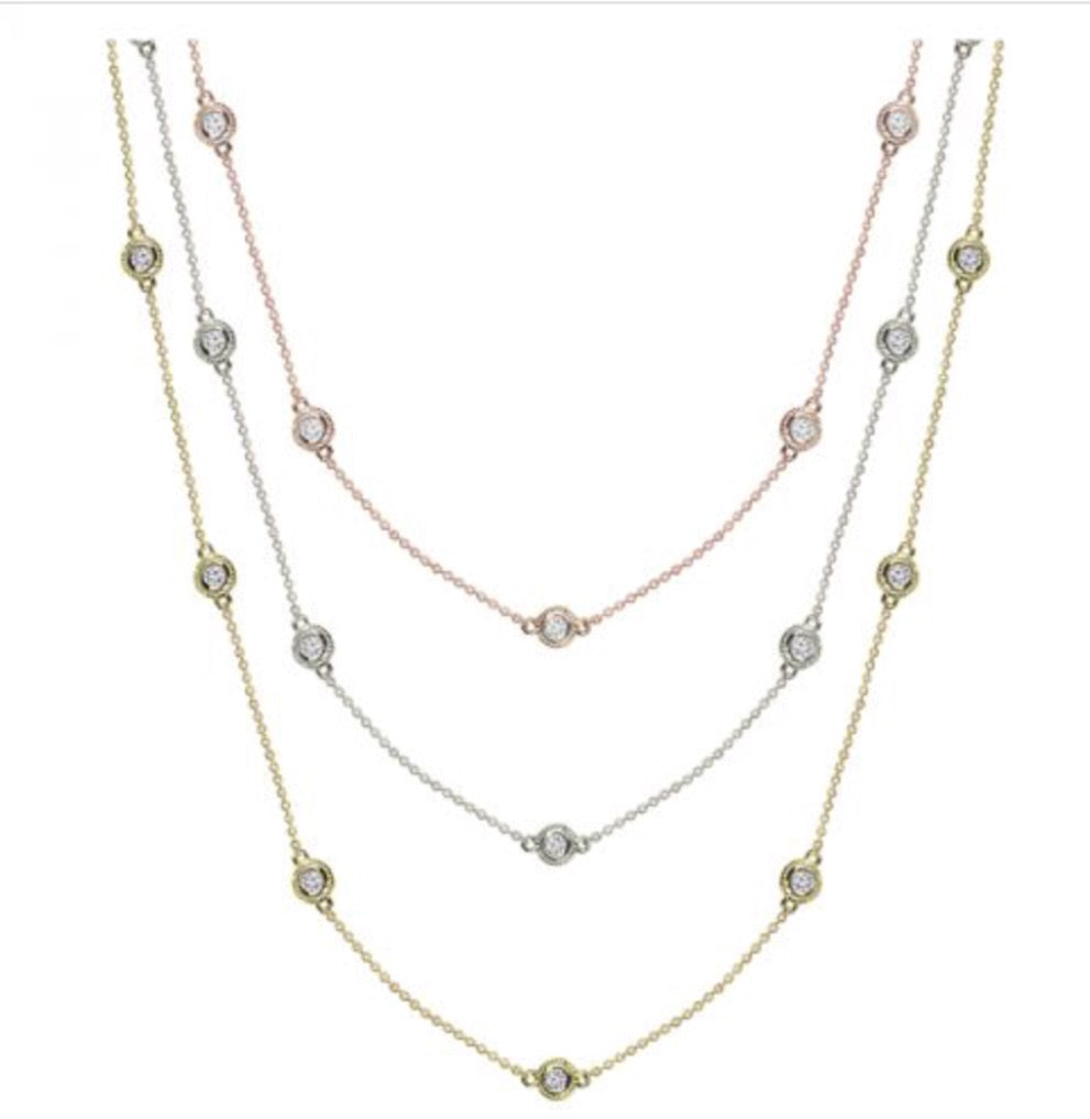 Diamond by the Yard Necklace 0.75ctw