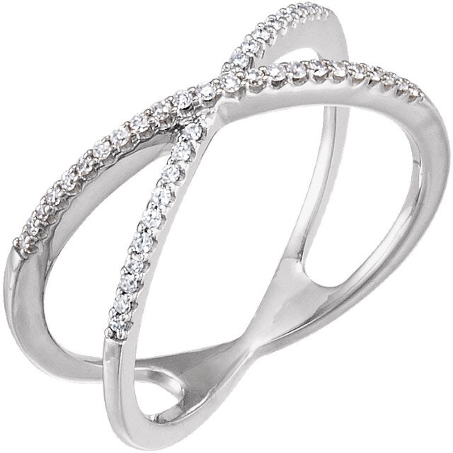 Diamond Criss Cross Ring