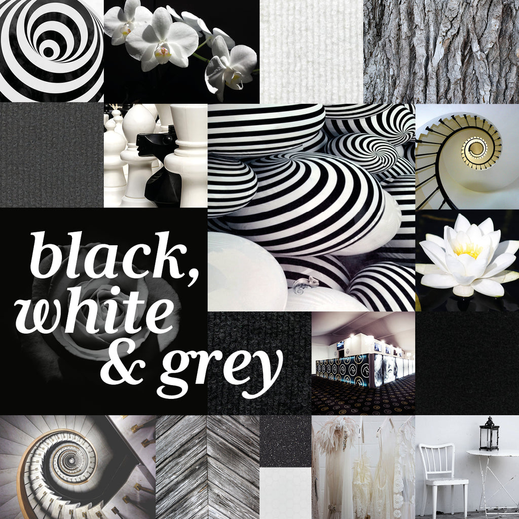 Eternal and timeless chic from black to white