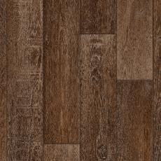 Rustic Chocolate Brown Oak Wood Design Vinyl