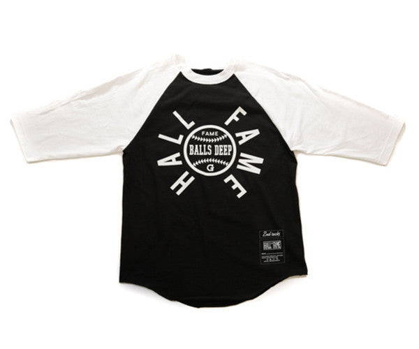 Hall of Fame | G Raglan Tee - Black