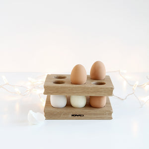 Wooden Oak Egg Rack