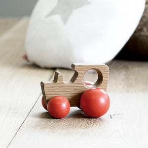 Hop & Peck Red Tractor Wooden Toy