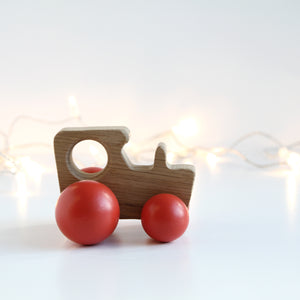 Traditional wooden Tractor toy
