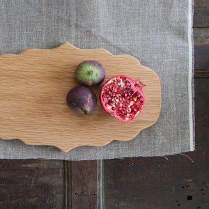 Shaped Oak Platter board