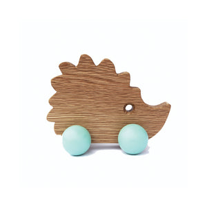 Mother Hedgehog wooden oak toy