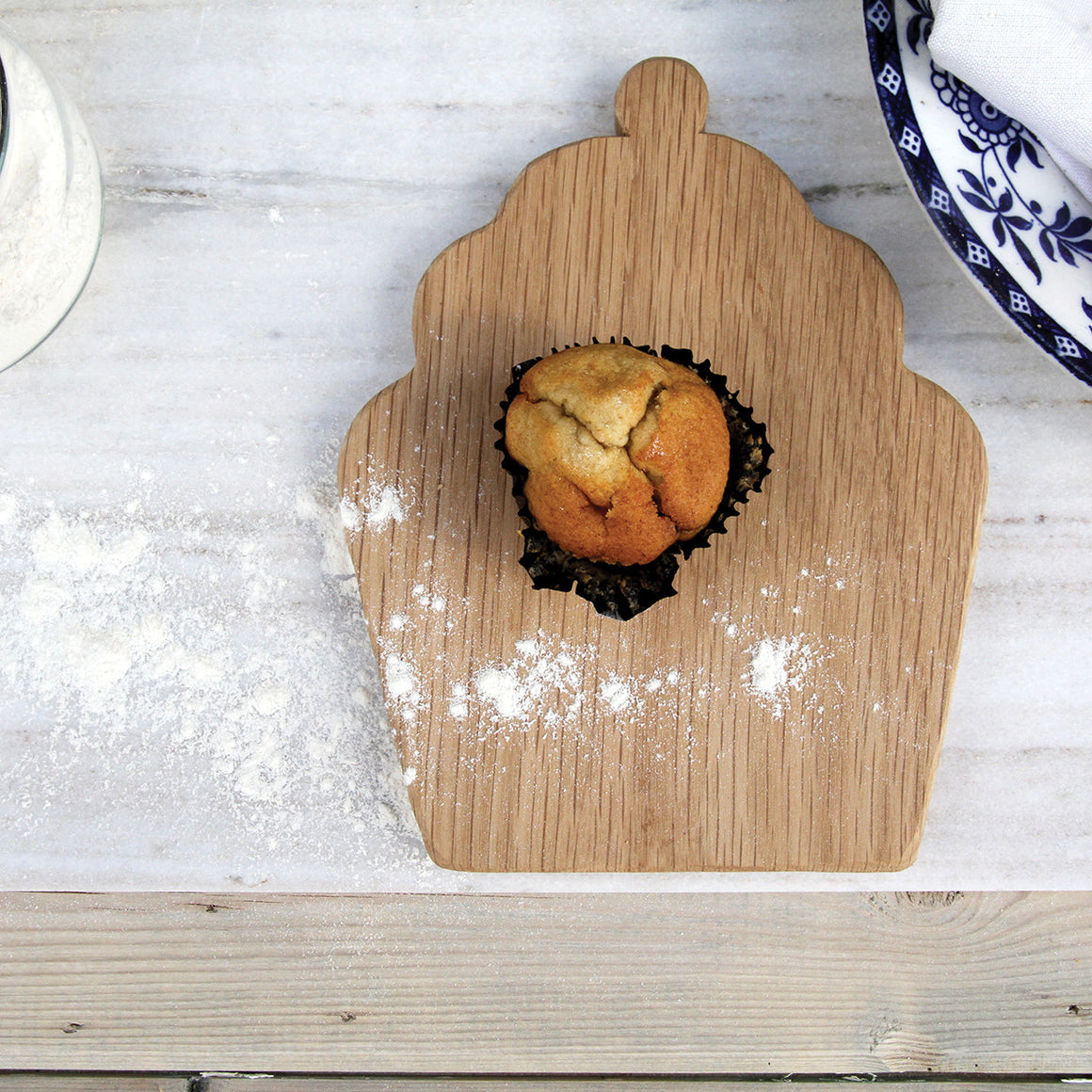 Wooden Cupcake Treat Board (Chopping & Serving board) - Hop & Peck