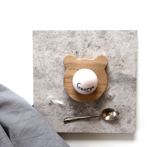Wooden Bear Egg Cup - Hop & Peck