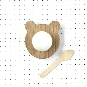 Wooden Bear Egg Cup