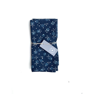 Indigo Blue dotty napkins - set of 4 - Hop & Peck