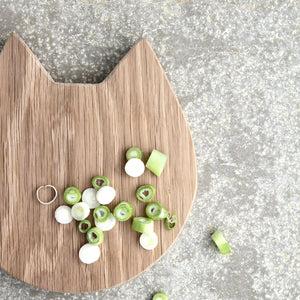Wooden Cat Treat Board (Chopping & Serving board) - Hop & Peck