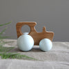 British Tractor Wooden Toy - Hop & Peck