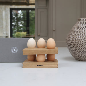 Wooden Oak Egg Rack (pair) - Hop & Peck
