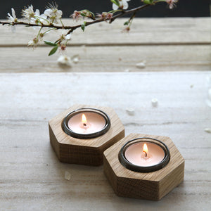 Hexagonal Tealight Holders - Hop & Peck