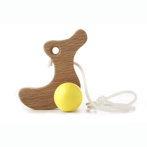 Duckling Pull-Along Wooden Toy - Hop & Peck