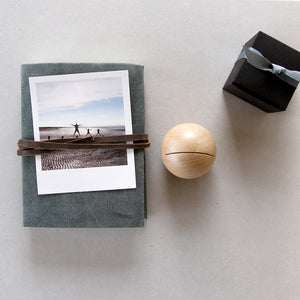 Journal and Wooden Dot card/photo holder gift set - A6
