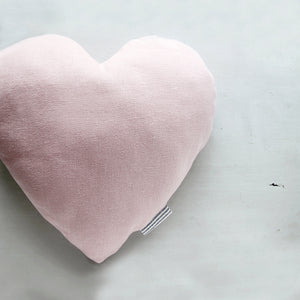 Delicate blush pink heart cushion