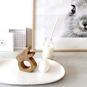 Wooden Baby Bunny Egg Cup