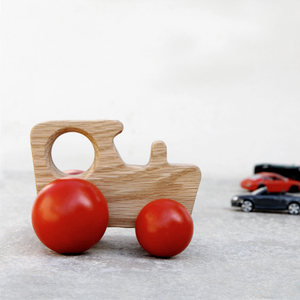 British Tractor Wooden Toy