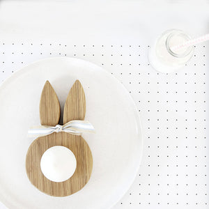 Wooden Bunny Ears Egg Cup