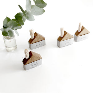 Oak House - wooden match and cocktail stick holder
