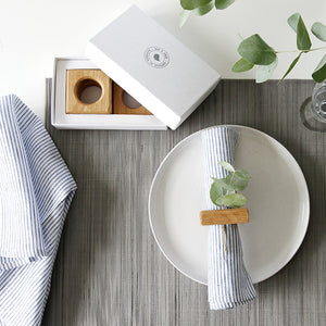 Square Napkin Rings (Set of Four)