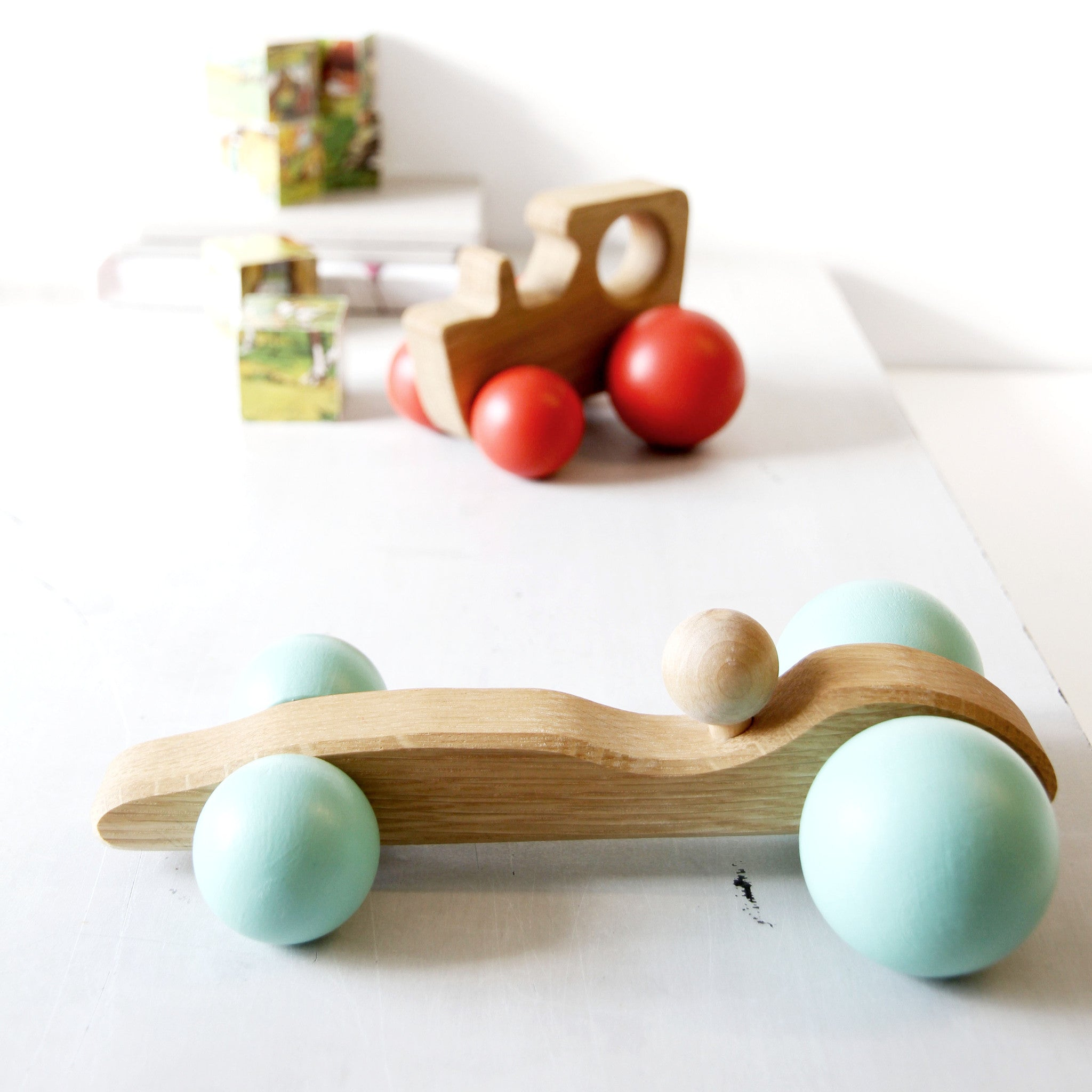 Charming handmade wooden toys with character