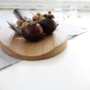 Small Oval Oak Serving Board
