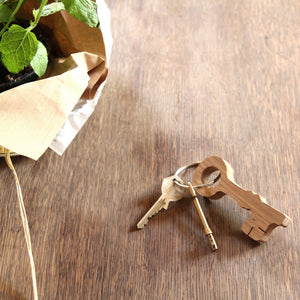 Wooden oak Key Keyring