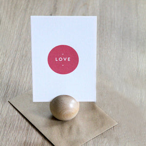 Love postcard & Envelope - Hop & Peck