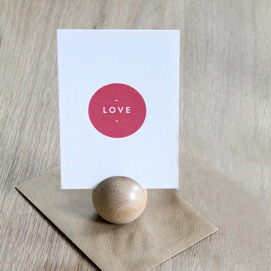Wooden Table Dot - card holder