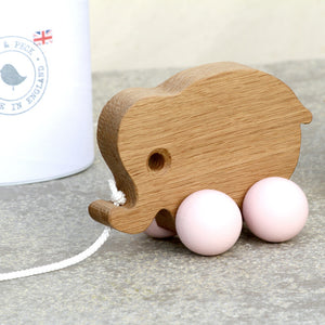 Baby Elephant Wooden Toy - Hop & Peck
