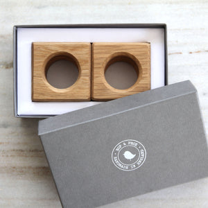 Square Napkin Rings (Set of Four) - Hop & Peck