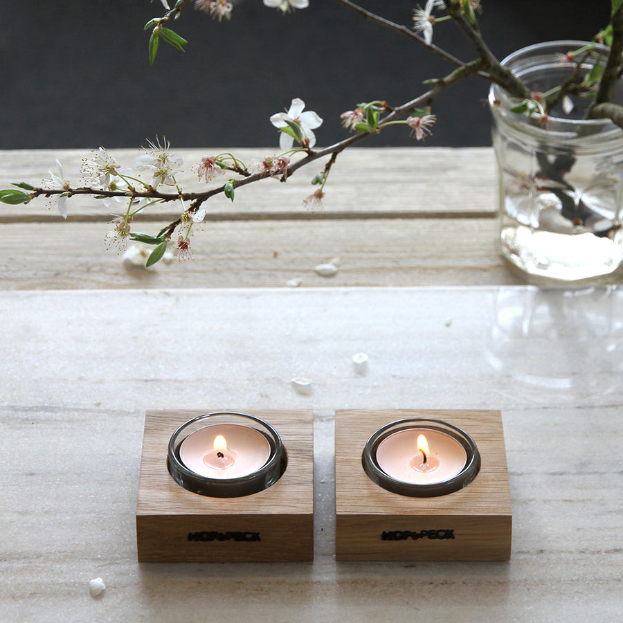 Square Tealight Holder - Hop & Peck