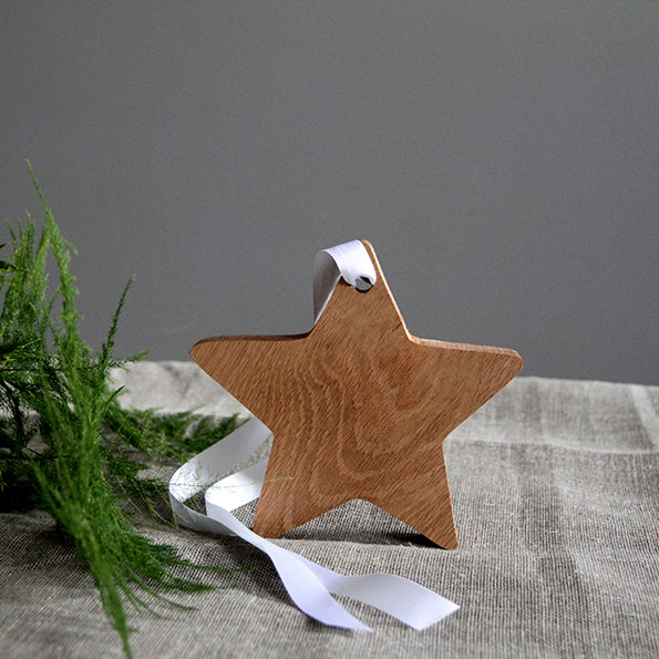 White hanging Star decoration - Hop & Peck