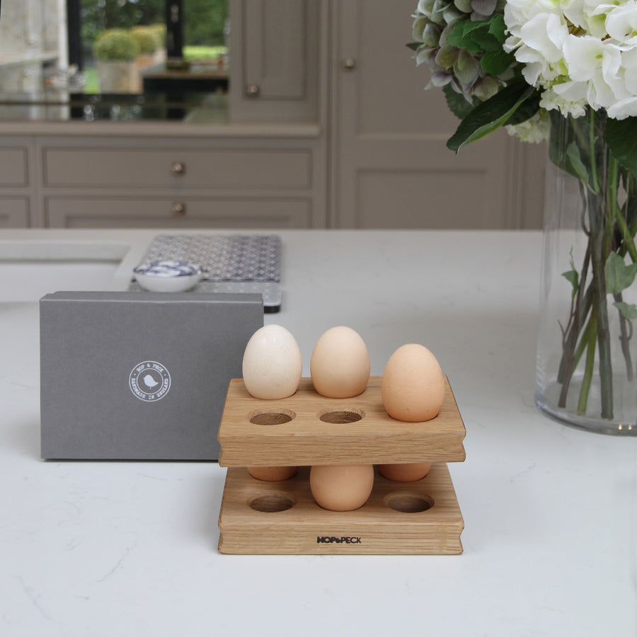 Wooden Oak Egg Rack (pair)