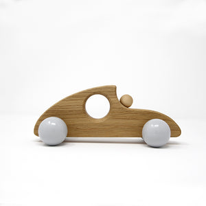 Sports Car wooden toy - polar grey