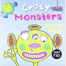 Crazy Monsters Sticker Book