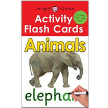 Wipe Clean Flash Cards: Animals