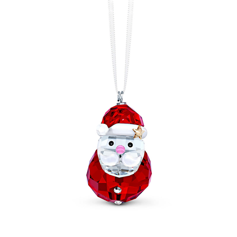 מניאטורה קריסטל ROCKING SANTA CLAUS ORNAMENT