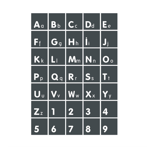 Alphabet Squares poster decal