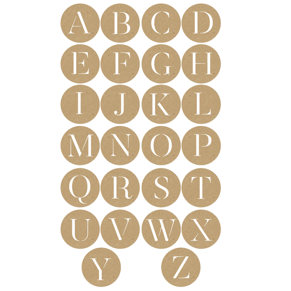 Alphabet dot set - Solid colors and Textures