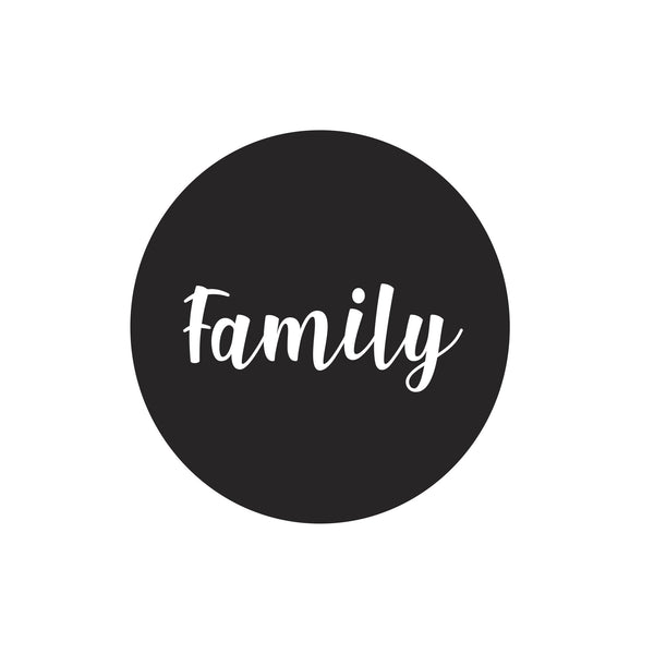 """Family"" dot decal"