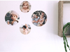 Custom Photo Wall Decal Dots - 15cm Diameter (Four Dots)