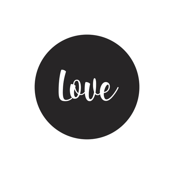 """Love"" dot decal"