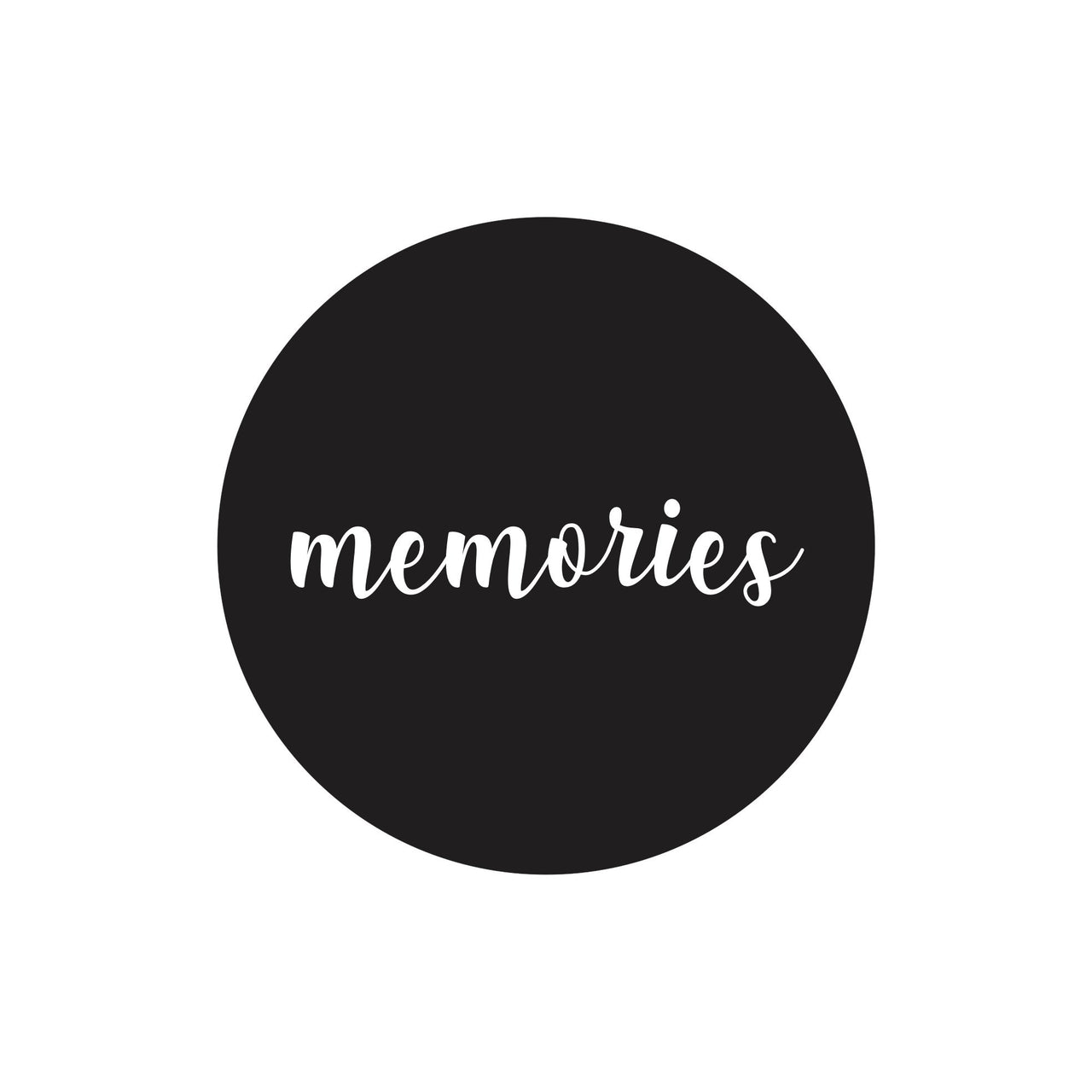 """Memories"" dot decal"
