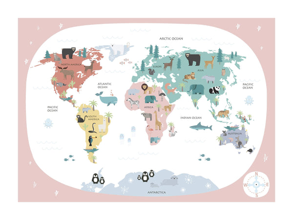 Kids World Map - Sweets