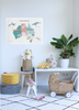 Australia Map poster decal - Blues & greens Vintage Look